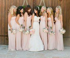 03 Brautjungfernkleider rosa schlicht lang elegant laendlich Hochzeitsfarben Romantisch– Hochzeit in Rosa Inspiration