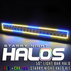 "Starry Night Halos RGB + Chasing 50-52"" LED Light Bar Halo"