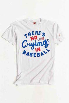 75bfec39505 HOMAGE No Crying In Baseball Tee Baseball Shirts