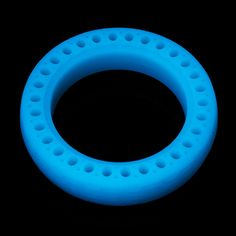 Blue Noctilucent Luminous Fluorescent Hollow Solid Tire Explosion-proof For Xiaomi Mijia Electric Scooter Goods And Service Tax, Goods And Services, Scooter Storage, Rubber Material, Electric Scooter, Honeycomb, Blue, Night, Easy