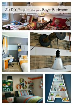 25 Boy Bedroom Projects that will help inspire you to start or finish your creative space.