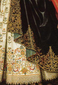 W. Larkin, Lady Dorothy Cary, detail 1615