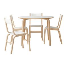 СКУГХАЛЬ Стол и 4 стула, бук, белый 10999.–