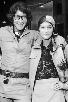 yves saint laurent and loulou de la falaise