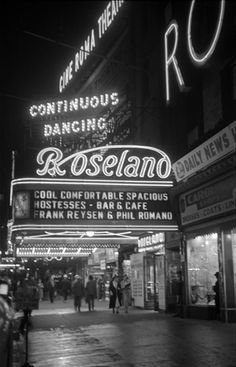 The Roseland Ballroom on Times Square at 51st Street and Broadway, New York - 1938  George Mann, Black & White Photography