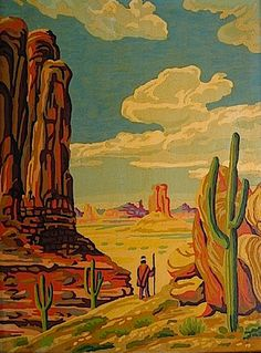 Painted Desert by Art Award.  Paint by Number.