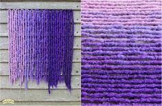 Purple crocheted synthetic dreads by Black Sunshine