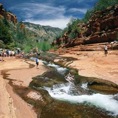 Cool off down a 30-foot natural water slide (at Slide Rock State Park, Arizona)!