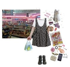 """LOLA"" by jennanol ❤ liked on Polyvore featuring Dr. Martens, Sony, Aerie and ...Lost"