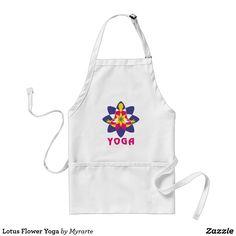 Lotus Flower Yoga. Yoga Flor de Loto. Delantal, apron. Producto disponible en tienda Zazzle. Product available in Zazzle store. Regalos, Gifts. #delantal #apron #yoga