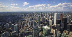 Toronto, Canada vanaf de CN Tower