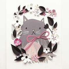 Meow ... Cat ... Paper Crafts = Hanna Nyman Paper poetry by Stockholm based designer and print designer Hanna Nyman. WebShop on website.