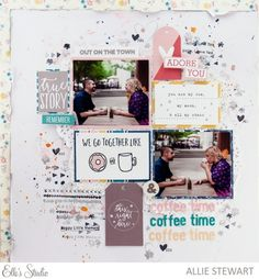 Coffee Time scrapbook layout by Allie Stewart for Elle's Studio