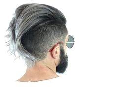 sugarskulls Long Hair Silver Grey Color