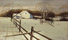 Nicholas Berger, Winter Fields, 2008, oil on panel, 9 X 14 1/2 inches