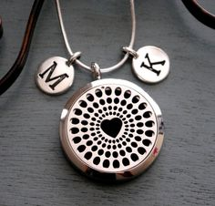 Personalized Essential Oil Diffuser Necklace, Heart Oil Diffuser Necklace…