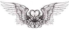heart with wings tattoo design Lower Back Tattoo Designs, Wing Tattoo Designs, Lower Back Tattoos, Girl Back Tattoos, Back Tattoo Women, Tattoos For Women, Moños Tattoo, Tattoo Bein, Tattoo Wings