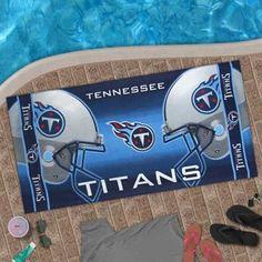 McArthur Tennessee Titans 30'' x 60'' Light Blue Beach Towel