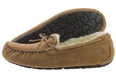 UGG Olsen 1003390-CHE Chestnut Suede Wool Slip On Casual House Shoes Medium Men