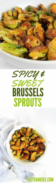 Spicy and Sweet Brussels Sprouts - an explosion of tangy, sweet and zesty…