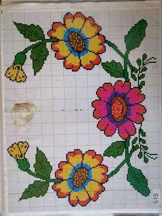 Cross Stitch, Crochet, Cross Stitch Art, Bouquets, Board, Activities, Dots, Patrones, Crossstitch