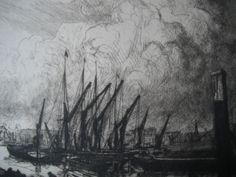 Detail from etching by William Washington, 'Greenwich, London Greenwich London, Washington, Detail, Artist, Painting, Painting Art, Paintings, Washington State, Amen