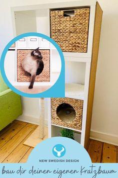 Verschwende keine Zeit mehr mit suchen und bau dir ganz einfach selbst deinen individuellen Ikea Kratzbaum, perfekt zugeschnitten auf die Bedürfnisse deiner Katze. Mit diesen 4 genialen Kratzbaum Ikea Hacks erfüllst du mit Klassikern wie dem Ikea Kallax, Lack, Ivar und Frosta deiner Katze jeden Wunsch und kannst dabei noch völlig frei entscheiden, wie dein Do-It-Yourself-Projekt am Ende aussehen soll. #newswedishdesign #ikea #ikeahack #diy #ikeakallax #ivar #kratzbaum Ikea Ivar Regal, Frosta, Ikea Hacks, New Swedish Design, Scratching Post, Clearance Toys, Projects, Wish