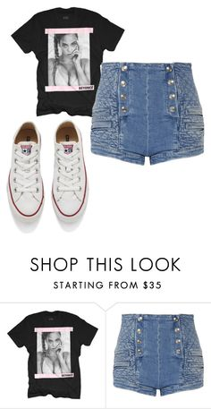 """xhf"" by eskucinska on Polyvore featuring Pierre Balmain, Converse, women's clothing, women, female, woman, misses and juniors"