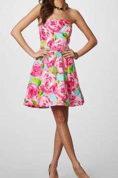 Lilly Pulitzer First Impression Hotty Pink dress.