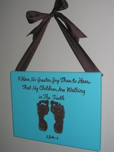 Super cute idea for when the kids accept Christ!! Can't wait- will be my proudest mommy moment
