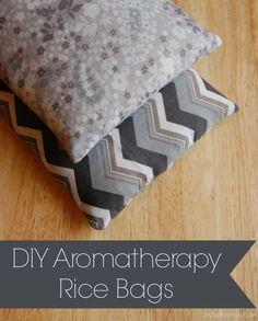 DIY Aromatherapy Rice Bag - I adore my rice bag! Great for sore muscles, growing pains, or when you just need to warm up a bit!