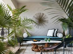 Designs by Sundown is a 2020 Gold List honoree featured in Luxe Interiors + Design. See more of this design professional's projects. Outdoor Living Areas, Outdoor Rooms, Outdoor Furniture Sets, Miami Art Deco, Tropical, Balcony Design, Cozy Corner, Decoration, Exterior Design