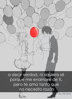 Frases anime Sad Anime, Anime Love, Kawaii Anime, Happy Love, My Love, Feeling Pictures, Little Bit Of Love, Some Quotes, Anime Comics