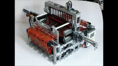 LEGO Mindstorms NXT - fully automatic loom machine My LEGO Loom Machine has been selected by LUGPol as the best LEGO creation in The machine was presen. Lego Mindstorms, Legos, Loom Weaving, Hand Weaving, Loom Machine, Weaving Machine, Knitting Machine, Lego Machines, Lego Boards