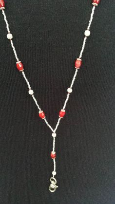 Red & Silver Lanyard by liverbitz on Etsy, $15.00
