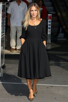 When Sarah Jessica Parker announced that she has a forthcoming line of little black dresses, we all made a quick assumption: Finally, we can dress just like Carrie Bradshaw! Well, we're still not sure how closely the designs will mimic the character's style—SJP is only slowly releasing glimpses of the collection.