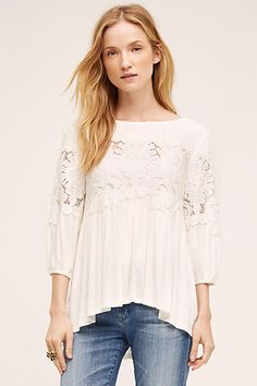 Desi Blouse from Anthropologie   size: XS   color: ivory, blue or black