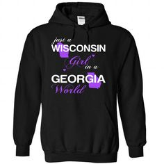 (WIJustTim002) Just A Wisconsin Girl In A Georgia World - #cute gift #gift packaging. GET => https://www.sunfrog.com/Valentines/-28WIJustTim002-29-Just-A-Wisconsin-Girl-In-A-Georgia-World-Black-Hoodie.html?68278