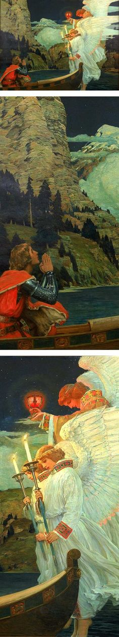 The Knight of the Holy Grail, Frederick J. Waugh