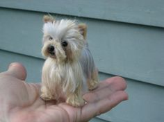 Items similar to Needle Felted Dog / Custom Miniature Sculpture of your pet / poseable / example Yorkshire Terrier Yorkie on Etsy Needle Felted Animals, Felt Animals, Needle Felting, Cute Animals, Yorkshire Terrier, Yorkie Names, Pose, Felt Dogs, Dog Pin