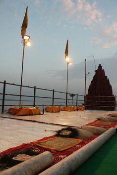 Preparing to offer a fiery tribute, Ganga Aarti, Varanasi, India #india #Ganga Aarti #travel #culture #Kamalan #photo #Ganga #Ganges #Benaras #Varanasi