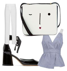 """""""Saturday?"""" by jessica-bejar on Polyvore featuring Marc Jacobs, Banana Republic, DKNY and Lulu Guinness"""
