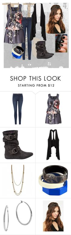 """""""Casual # 9"""" by mychocolollipop ❤ liked on Polyvore featuring J Brand, Blowfish, Fantasy Jewelry Box, H&M and Michael Kors"""