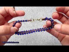 Crystal Beaded Thin Bracelet Making, Ring Earrings, Beaded Earrings, Handmade Bracelets, Jewelry Bracelets, Beaded Jewelry Designs, Beaded Bracelet Patterns, Homemade Jewelry, Jewelry Making Tutorials, Bracelet Tutorial