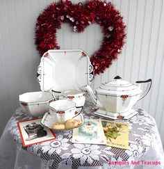 Antiques And Teacups: Tuesday Cuppa Tea - Sweethearts Tea Filled With Love