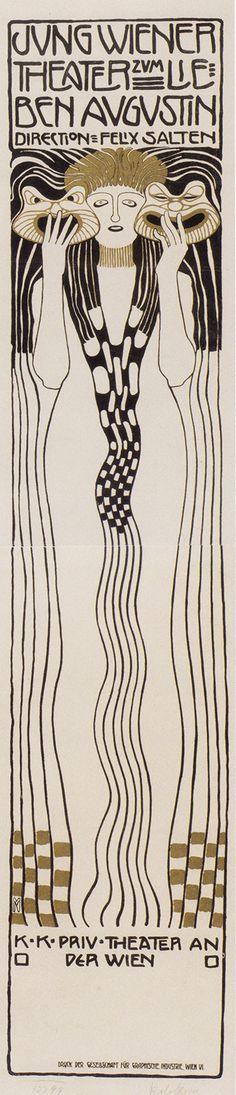 ←  → Koloman Moser, 1901, Poster For Felix Salzens Jung Wiener Theatre With Lieben Augustin,
