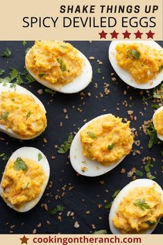 Impress you friends with this unique Deviled Eggs Recipe. Spiked with Chile Powder, white wine vinegar, Dijon Mustard and sprinkled with a crunchy buttered cilantro panko bread crumbs. Perfect make ahead appetizer to feed that crowd. #deviledeggs #spicy #Dijon #chilepowder Make Ahead Appetizers, Popular Appetizers, Appetizer Recipes, Easy Dinner Recipes, Easy Meals, Party Recipes, Best Egg Recipes, Side Dish Recipes, Mexican Food Recipes