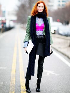 15 Unexpected Layering Ideas to Steal from Street Style Stars 15 Schichtideen der Fashion Week Herbst 2016 Street Style Fashion Weeks, Fashion Week 2016, Fall Fashion Trends, Autumn Fashion, Street Style 2016, Autumn Street Style, Street Style Women, New York Fashion, Star Fashion