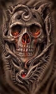 Biomechanical Skull Drawings - Bing images