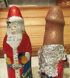 Delicious Dirty Chocolate Santa Claus for Christmas Melts In Your Mouth ---- hilarious jokes funny pictures walmart humor fails